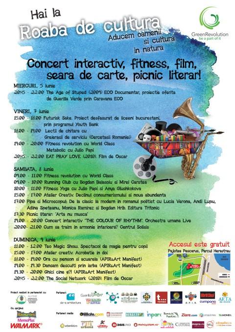 program Roaba de cultura - 3-9 iunie iunie
